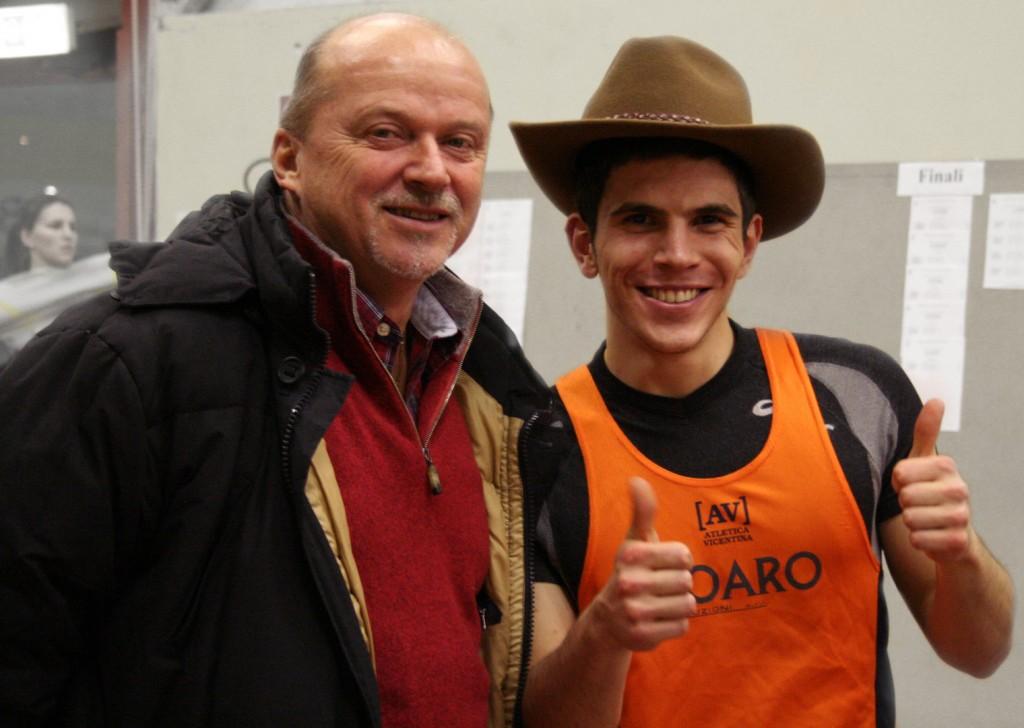 Paolo Albanello con il tecnico Luciano Caravani