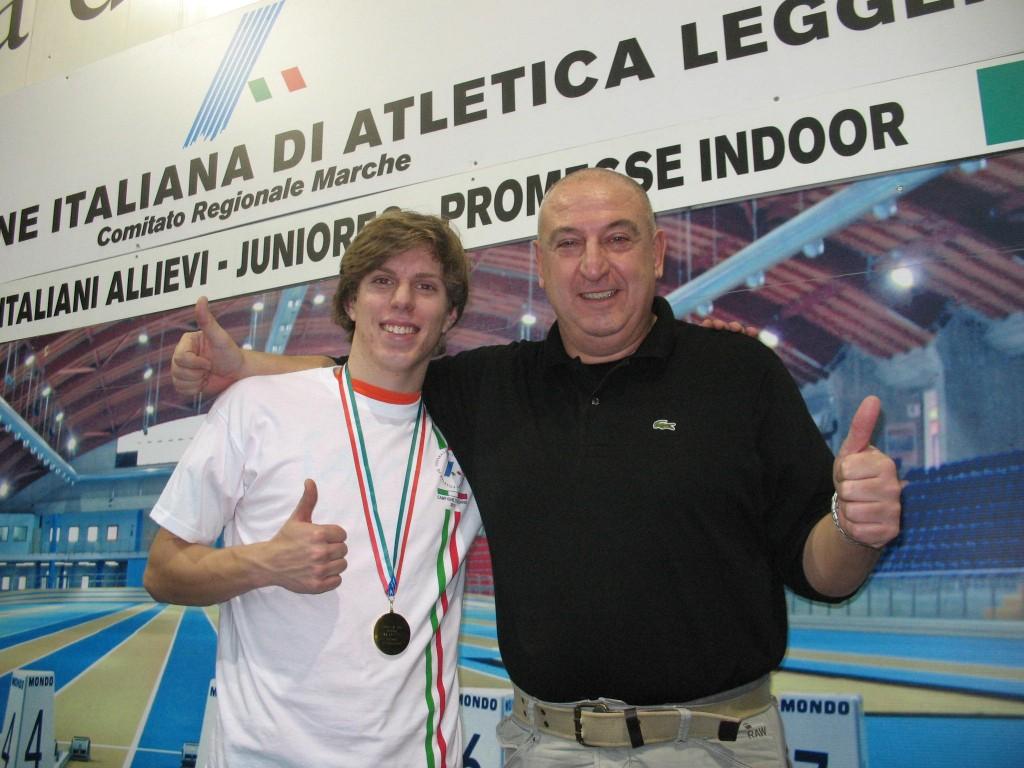 Alessandro Berto con il tecnico Sergio Cestonaro