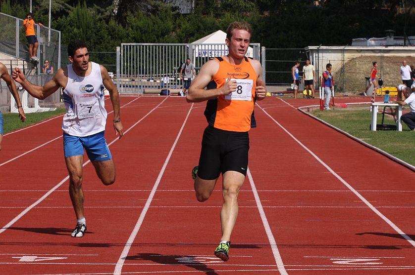 Matteo Galvan, suoi i 200m