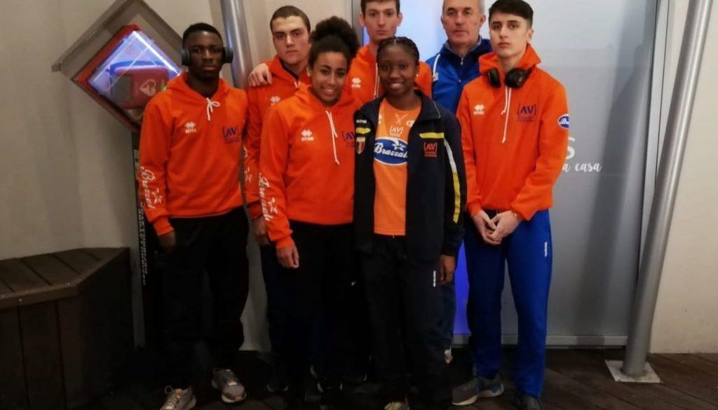Zocca e i suoi atleti a Parma